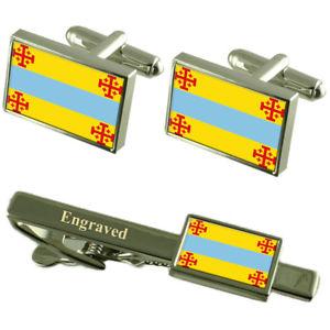 【送料無料】メンズアクセサリ― ポパヤンコロンビアカフスボタンタイクリップセットpopayan city colombia flag cufflinks engraved tie clip set