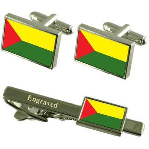 【送料無料】メンズアクセサリ― サンタローザエクアドルカフスボタンタイクリップセットsanta rosa city ecuador flag cufflinks engraved tie clip set