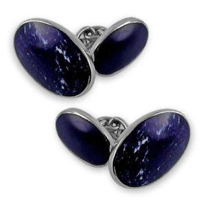 【送料無料】メンズアクセサリ― スターリングシルバーラピスカフスボタン sterling silver lapis double sided cufflinks boxed