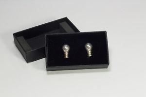 【送料無料】メンズアクセサリ― ビンテージスターリングシルバーカフスボタンロンドンvintage sterling silver hallmarked novelty light bulb cufflinks london 1998