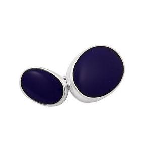 【送料無料】メンズアクセサリ― ラピスカフリンクスsterling silver lapis doublesided cufflinks