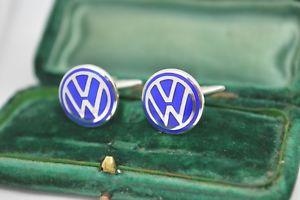 【送料無料】メンズアクセサリ― ビンテージスターリングシルバーエナメルフォルクスワーゲンカフリンクスvintage sterling silver cufflinks with an enamel volkswagen design b633