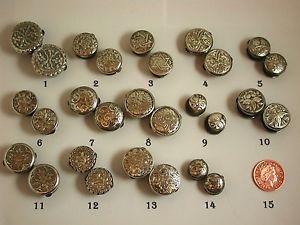 【送料無料】メンズアクセサリ― アンティークビクトリアカフスボタンデザインselection of wonderful antique victorian silver fronted cufflinks varied designs