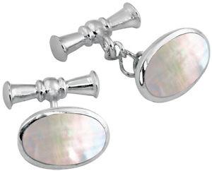 【送料無料】メンズアクセサリ― アリノーマンパールオーバルカフスボタンスターリングシルバー ari d norman 925 sterling silver mother of pearl oval cufflinks gift boxed