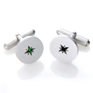 【送料無料】メンズアクセサリ― エメラルドマットラウンドカフスボタンメンズsterling silver natural emerald gemstone matte finish round cufflinks mens gifts