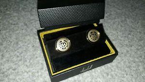 【送料無料】メンズアクセサリ― アルフレッドダンヒルカフスボタンゴールドロゴホイールalfred dunhill cufflinks gold logo embedded wheel