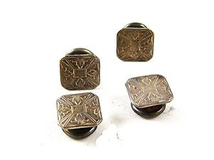 【送料無料】メンズアクセサリ― アールデコスナップリンクパークロジャーart deco snap link sterling silver cufflnks by park roger jiffy 91916