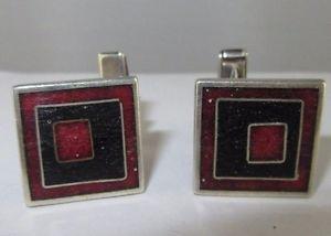 【送料無料】メンズアクセサリ― デザイナーカフリンクシルバーエナメルc573 designer cuff links perli silver enameled