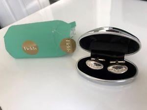 【送料無料】メンズアクセサリ― アイルランドメンズスターリングシルバーカフリンクスフィールドfields of ireland mens sterling silver cufflinks perfect gift