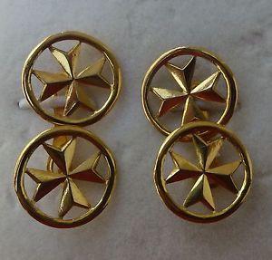 【送料無料】メンズアクセサリ― イエローゴールドマルタマルタクロスカフリンクス 9ct 9k 375 yellow gold malta maltese cross original cufflinks