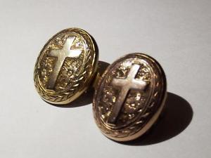 【送料無料】メンズアクセサリ― ゴールドフロントクロスカフリンクス9ct gold front cross cufflinks