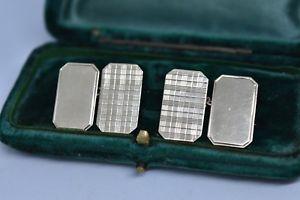 【送料無料】メンズアクセサリ― ヴィンテージゴールドメンズカフスボタンアールデコデザインvintage 9ct gold mens cufflinks with an art deco design 354g g148