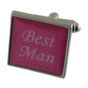 【送料無料】メンズアクセサリ― ピンクカラーカフリンクスボックスbest man pink colour wedding cufflinks gift boxed