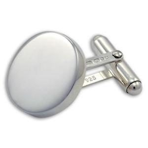 【送料無料】メンズアクセサリ― プレーンラウンドカフリンクスsterling silver heavyweight plain round cufflinks engravable personalise