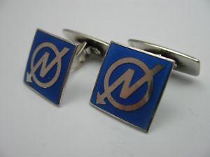 【送料無料】メンズアクセサリ― ノルウェービンテージエナメルカフスボタンシルバーnorway rare vintage enamel cufflinks from 925 silver