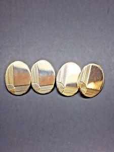 【送料無料】メンズアクセサリ― イエローソリッドゴールドカフリンクス9ct yellow solid gold cufflinks