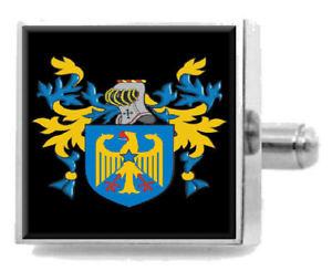 【送料無料】メンズアクセサリ― スコットランドカフスボタンメッセージボックスbaillie scotland heraldry crest sterling silver cufflinks engraved message box