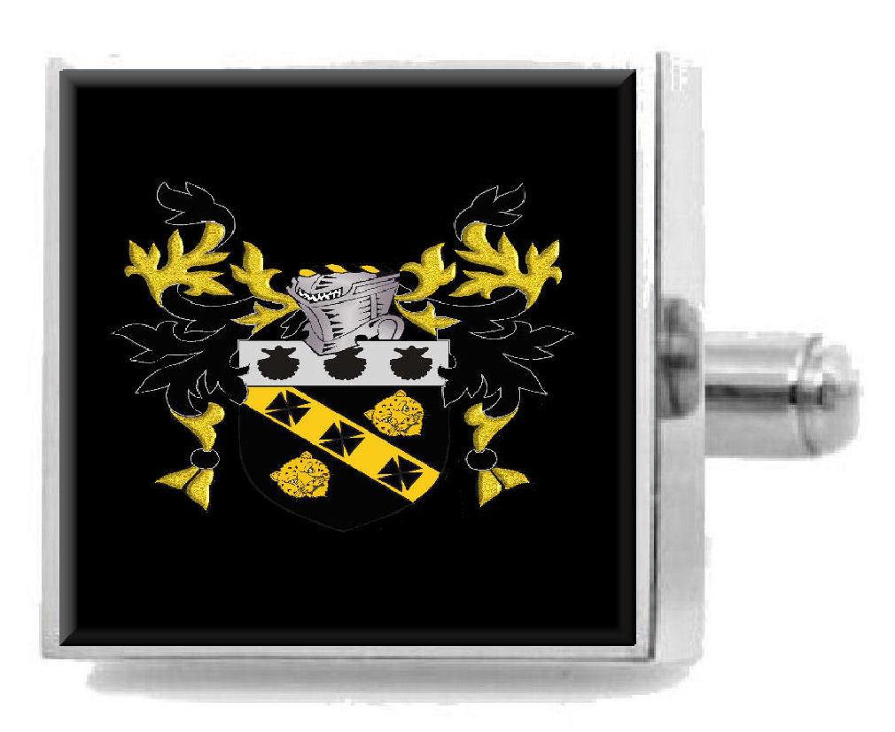 【送料無料】メンズアクセサリ― イングランドカフスボタンメッセージボックスmilburn england heraldry crest sterling silver cufflinks engraved message box