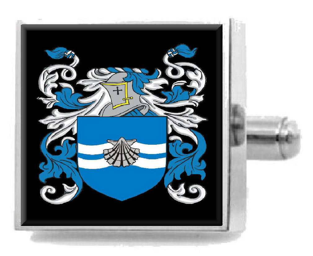Select Gifts Willcutt England Heraldry Crest Sterling Silver Cufflinks Engraved Box