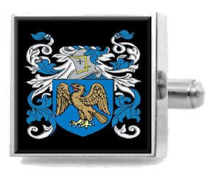 【送料無料】メンズアクセサリ― イギリスカフスボタンボックスcaulcott england heraldry crest sterling silver cufflinks engraved box