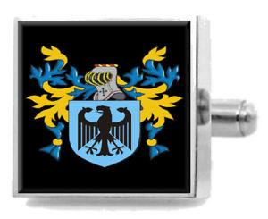 【送料無料】メンズアクセサリ― イングランドカフスボタンボックスcarleton england heraldry crest sterling silver cufflinks engraved box