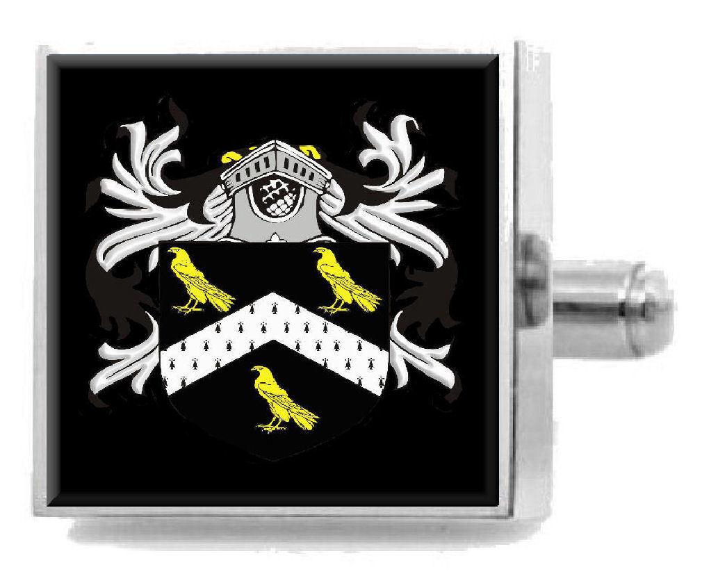 【送料無料】メンズアクセサリ― ジャービスウェールズカフスボタンメッセージボックスjarvis wales heraldry crest sterling silver cufflinks engraved message box