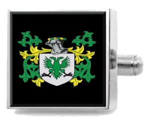 【送料無料】メンズアクセサリ― アイルランドカフスボタンボックスloughnan ireland heraldry crest sterling silver cufflinks engraved box