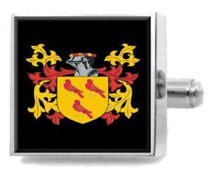 【送料無料】メンズアクセサリ― アイルランドカフスボタンボックスtrudgett ireland heraldry crest sterling silver cufflinks engraved box