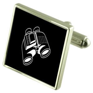 【送料無料】メンズアクセサリ― スターリングシルバーカフリンクスオプションボックスオンbinoculars sterling silver cufflinks optional engraved box