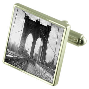 【送料無料】メンズアクセサリ― ブルックリンカフスボタンオプションボックスオンbrooklyn bridge picture sterling silver cufflinks optional engraved box
