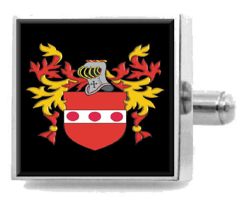 【送料無料】メンズアクセサリ― デラウェアアイルランドカフスボタンボックスdelaware ireland heraldry crest sterling silver cufflinks engraved box