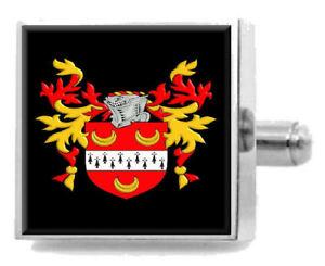 【送料無料】メンズアクセサリ― ホロウェイイングランドカフスボタンボックスholloway england heraldry crest sterling silver cufflinks engraved box