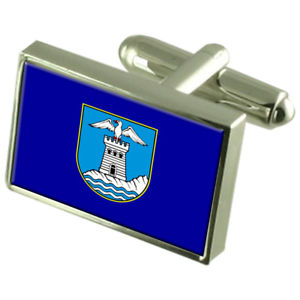【送料無料】メンズアクセサリ― opatijaクロアチアスターリングフラグカフスリンクopatija city croatia sterling silver flag cufflinks engraved box