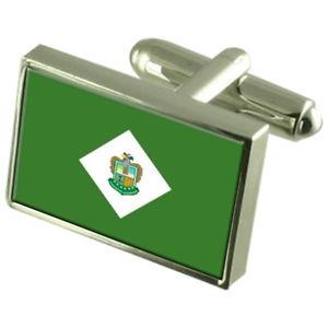【送料無料】メンズアクセサリ― ババオヨエクアドルスターリングフラグカフスリンクbabahoyo city ecuador sterling silver flag cufflinks engraved box
