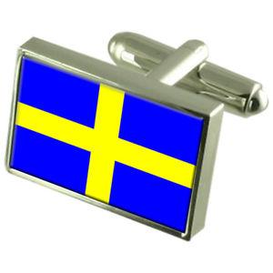 【送料無料】メンズアクセサリ― ツーロンフランススターリングフラグカフスリンクtoulon city france sterling silver flag cufflinks engraved box