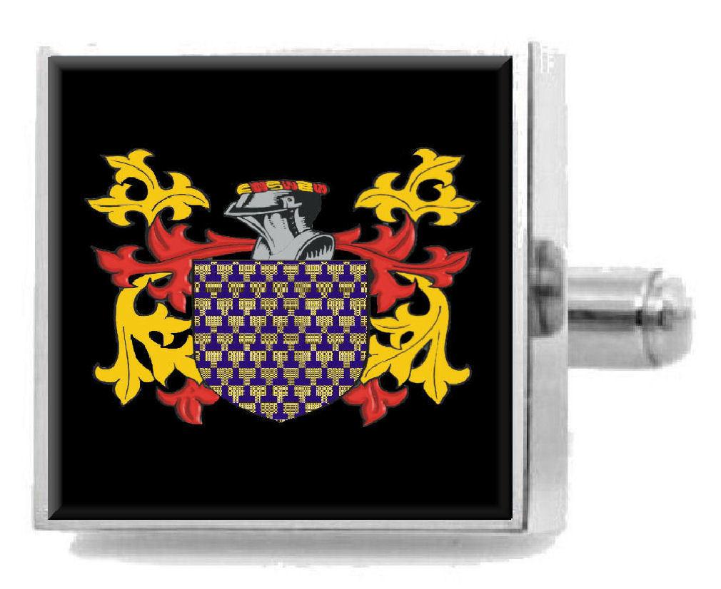 【送料無料】メンズアクセサリ― アイルランドカフスボタンボックスvenables ireland heraldry crest sterling silver cufflinks engraved box