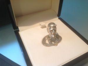 【送料無料】メンズアクセサリ― シルバーカフスボタンボックスブランドeleven forty hallmarked silver lucifer cufflinks brand in box