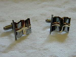【送料無料】メンズアクセサリ― シルバーウェールズゴールドカフリンクスclogau silver amp; welsh gold st davids cufflinks rrp 28000