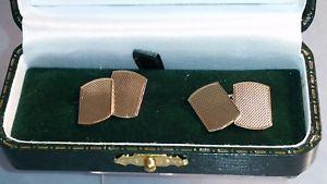 【送料無料】メンズアクセサリ― ゴールドゴールドカフリンクスa guilloched gold gold patterned 9ct four gold cufflinks rectangular having four rectangular shields, カレイドスコープス:96c6f11c --- sunward.msk.ru