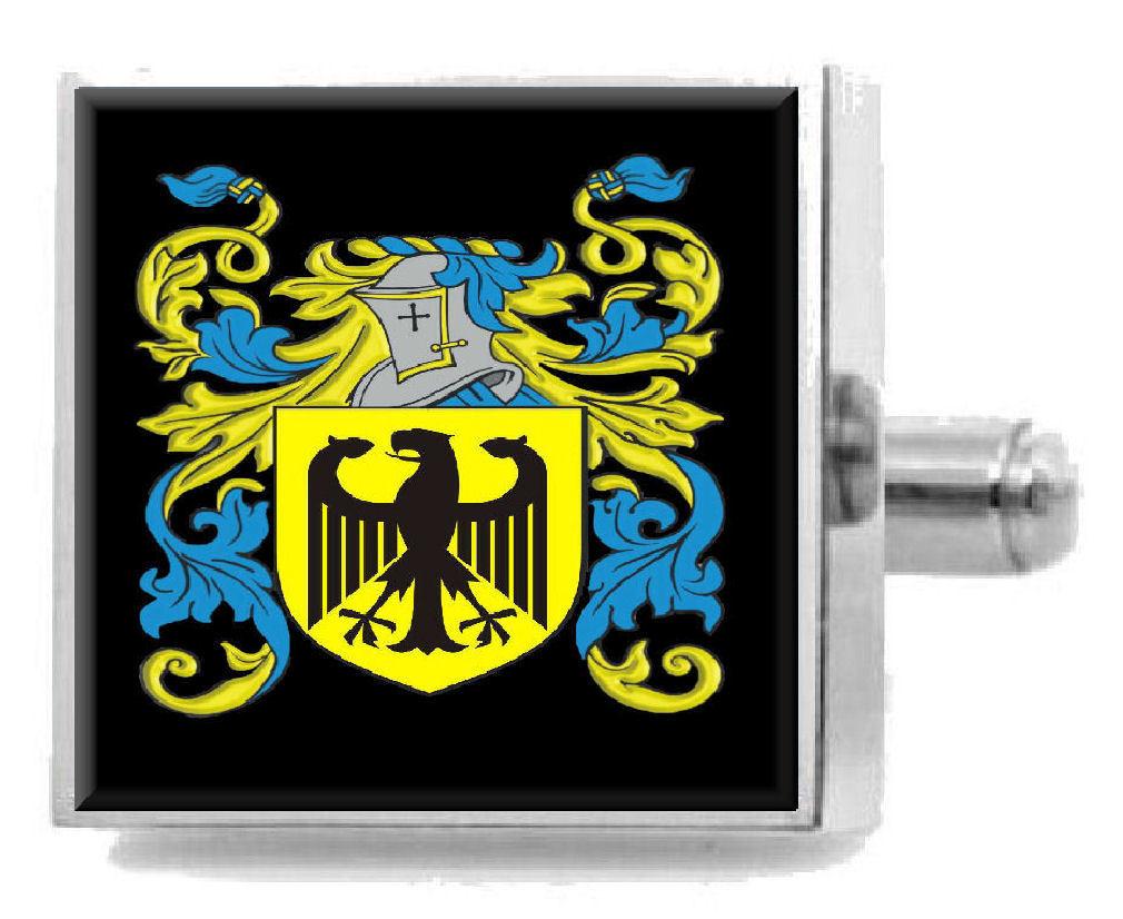 【送料無料】メンズアクセサリ― アイルランドカフスボタンボックスkeighron ireland heraldry crest sterling silver cufflinks engraved box