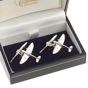 【送料無料】メンズアクセサリ― ソリッドスターリングシルバーカフリンクスspitfire solid sterling silver cufflinks