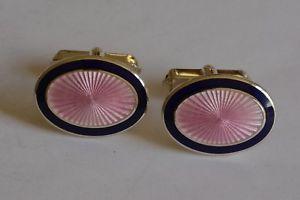 【送料無料】メンズアクセサリ― スターリングシルバーエナメルカフリンクスsterling silver enameled starburst cufflinks