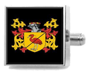 【送料無料】メンズアクセサリ― アイルランドカフスボタンボックスelrington ireland heraldry crest sterling silver cufflinks engraved box