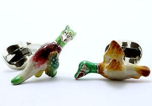 【送料無料】メンズアクセサリ― ディーキンフランシスシルバーエナメルカフリンクスdeakin and francis silver amp; enamel angry bird cufflinks