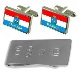 【送料無料】メンズアクセサリ― サマラシティロシアカフスボタンジェームスボンドマネークリップsamara city russia flag cufflinks amp; james bond money clip