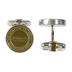 【送料無料】メンズアクセサリ― シルバーブラウンシグネチャコレクションメンズカフリンクスbaldessarini oxydised silver brown signature collection mens cufflinks