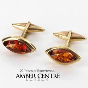 【送料無料】メンズアクセサリ― イタリアゴールド¥クラシックバルトカフスボタンitalian made classic baltic amber cufflinks in 9ct gold gf0019 rrp335