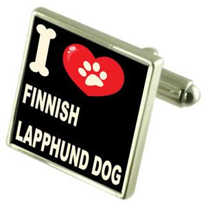 【送料無料】メンズアクセサリ― シルバーカフスボタンマネークリップフィンランドsilver 925 cufflinks amp; bond money clip i love finnish lapphund