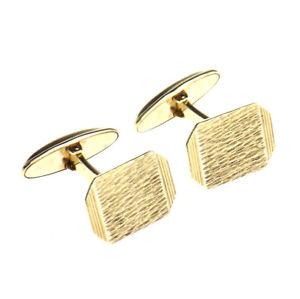 【送料無料】メンズアクセサリ― イエローゴールドカフリンクス9ct yellow gold rectangular cufflinks w swivel fastenings