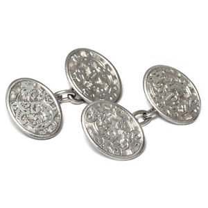 【送料無料】メンズアクセサリ― チャールズホーナーアンティークシルバーカフスボタンチェスターcharles horner antique 925 silver engraving cufflinks, dated chester 1901